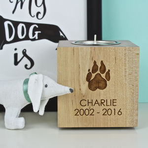 Pet Memorial Tea Light Candle Holder - candles & home fragrance