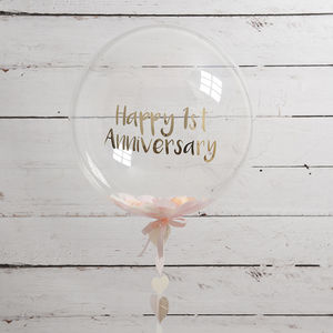 Personalised Paper Anniversary Confetti Filled Balloon