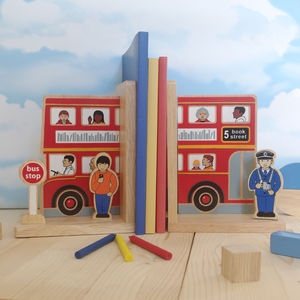 Fair Trade Bus Bookend Set - home accessories