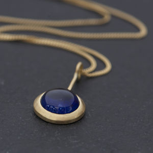 Blue Sapphire Gold Necklace - necklaces & pendants