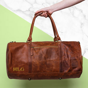 Personalised Leather Classic Duffle - holdalls & weekend bags