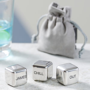 Personalised Stainless Steel Ice Cubes - wine coolers, ice buckets & trays