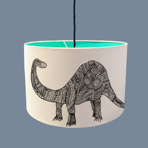 Dinosaur Lampshade With A Range Of Colour Linings - lampshades
