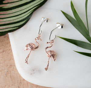 Flamingo Earrings - earrings