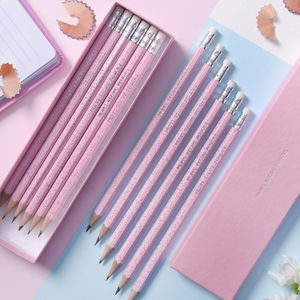 Personalised Pink Sparkle Pencils - best gifts for girls