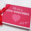Love Voucher Book