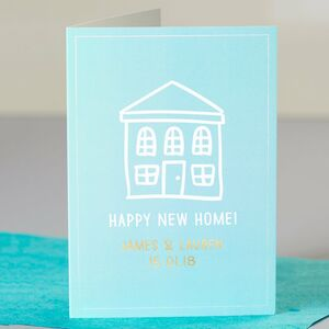 Personalised Gold Foil Happy New Home Card