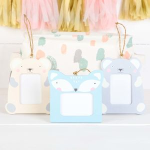 Three Nursery Mini Hanging Photo Frames, Pastel Shades