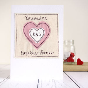 Personalised Couples Initials Heart Card