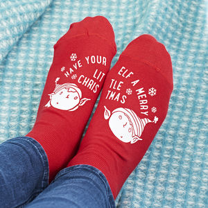 Merry Christmas Elf Socks - stocking fillers