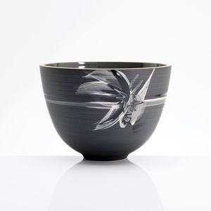 Black Stars Design Handmade Deep Centre Bowl