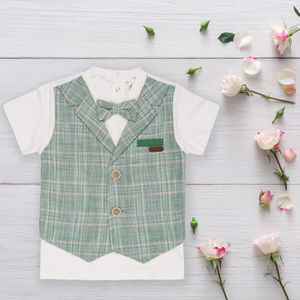 Baby Boys T Shirt With Fitted Bow Tie - clothing