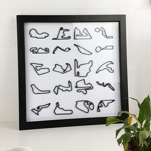 Framed 3D Racing Circuit Limited Edition - personalised