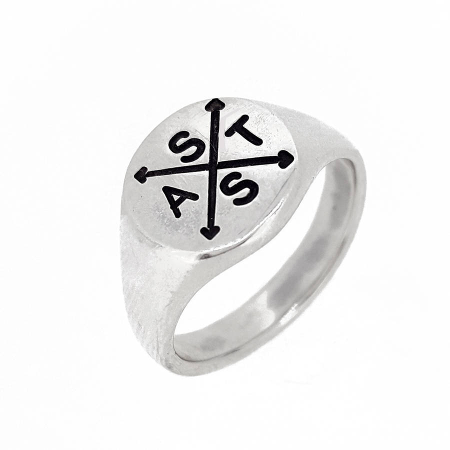 round ring on crowdyhouse shop signet silver plain