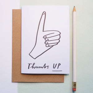 Thumbs Up Congratulations Card