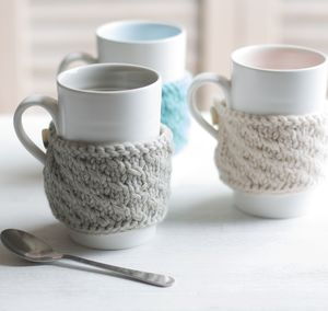 Hand Knitted Cosy Mug - mugs