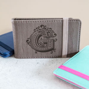 Personalised Travel / Credit Card Wallet Eight Colours - gifts for fathers