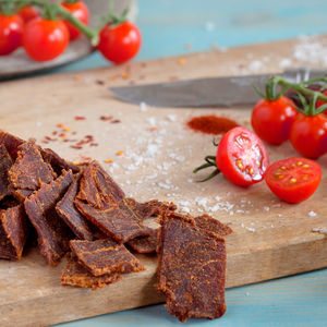 Tangy Tomato Grass Fed Beef Jerky Eight Snack Packs - savouries