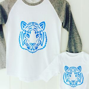 Tiger Raglan Long Sleeved Top Set