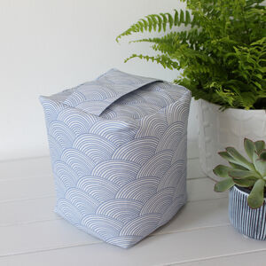 Harbour Waves Pattern Fabric Doorstop