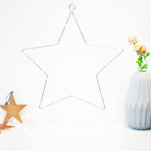 Hanging Silver LED Star Fairy Light Decoration - children's room