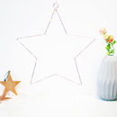 Hanging Silver LED Star Fairy Light Decoration