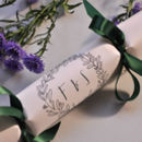 Table Setting Crackers Christmas Wreath