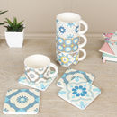 Set Of Four Mediterranean Mosaic Selection