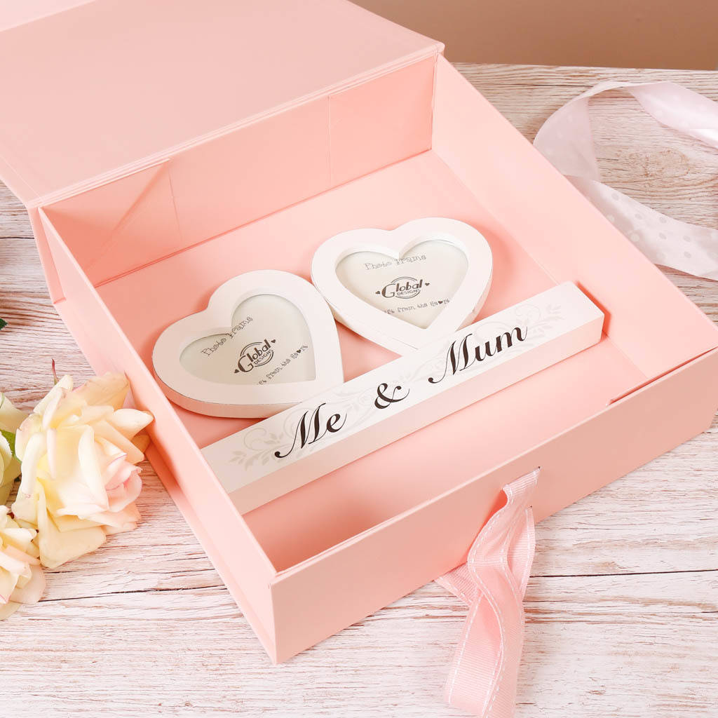 me and mum\' twin hearts photo frame by dibor | notonthehighstreet.com