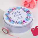 Personalised Fiesta Christmas Wreath Tin