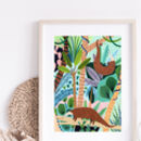 Jungle Pangolin Art Print