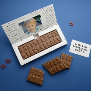 Personalised Chocolate Bar Card
