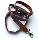Maroon Paisley Design Collar, Available Matching Lead