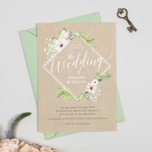Eloise Botanical Blush Floral Wedding Invitations
