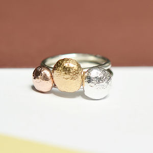 Handmade Silver Pebble Stacking Rings