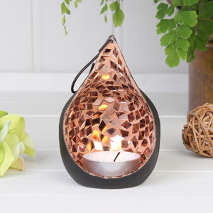 Free Standing Teardrop Tea Light Holder - on trend: copper