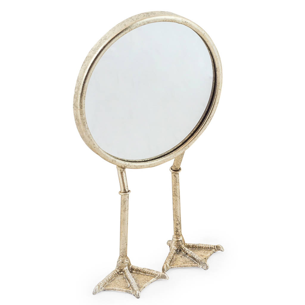 Elegant Antique Effect Duck Feet Table Mirror