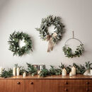 Laurel Leaf Artificial Wreath With Hessian Bow