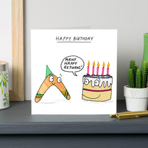 'Many Happy Returns' Card