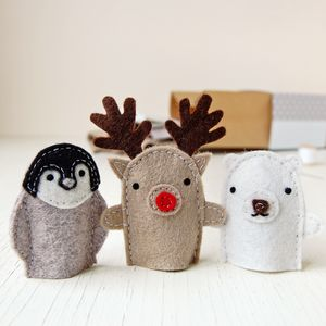 Make Your Own Christmas Finger Puppets Craft Kit - sewing & knitting