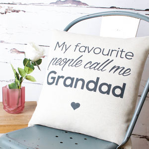 'Favourite People' Cushion Cover - gifts for grandfathers