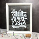 Personalised Wedding Venue Papercut
