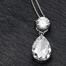 Brilliant Cut Peardrop Crystal Pendant