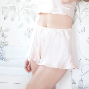 Amara Oyster Silk French Knickers