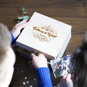 Personalised Wedding Confetti Memory Box
