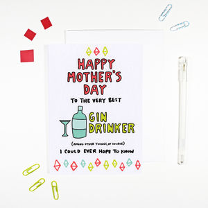 Happy Mother's Day Gin Drinker Card