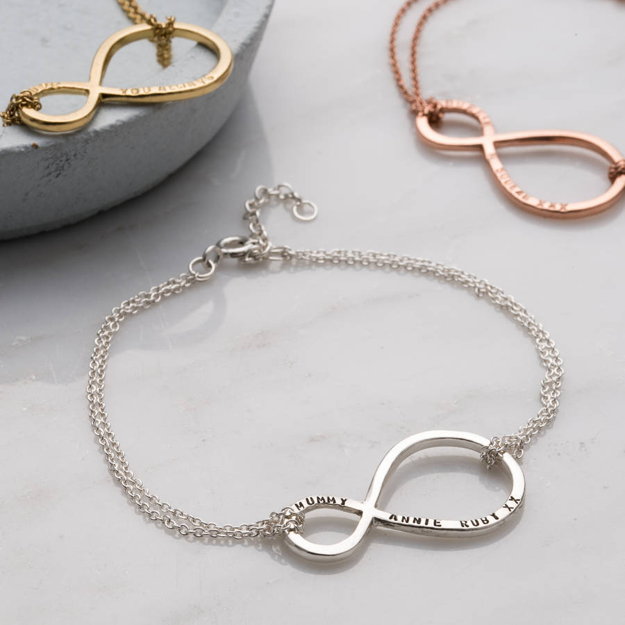 Personalised mummy and baby infinity bracelet by posh totty designs personalised mummy and baby infinity bracelet biocorpaavc Gallery