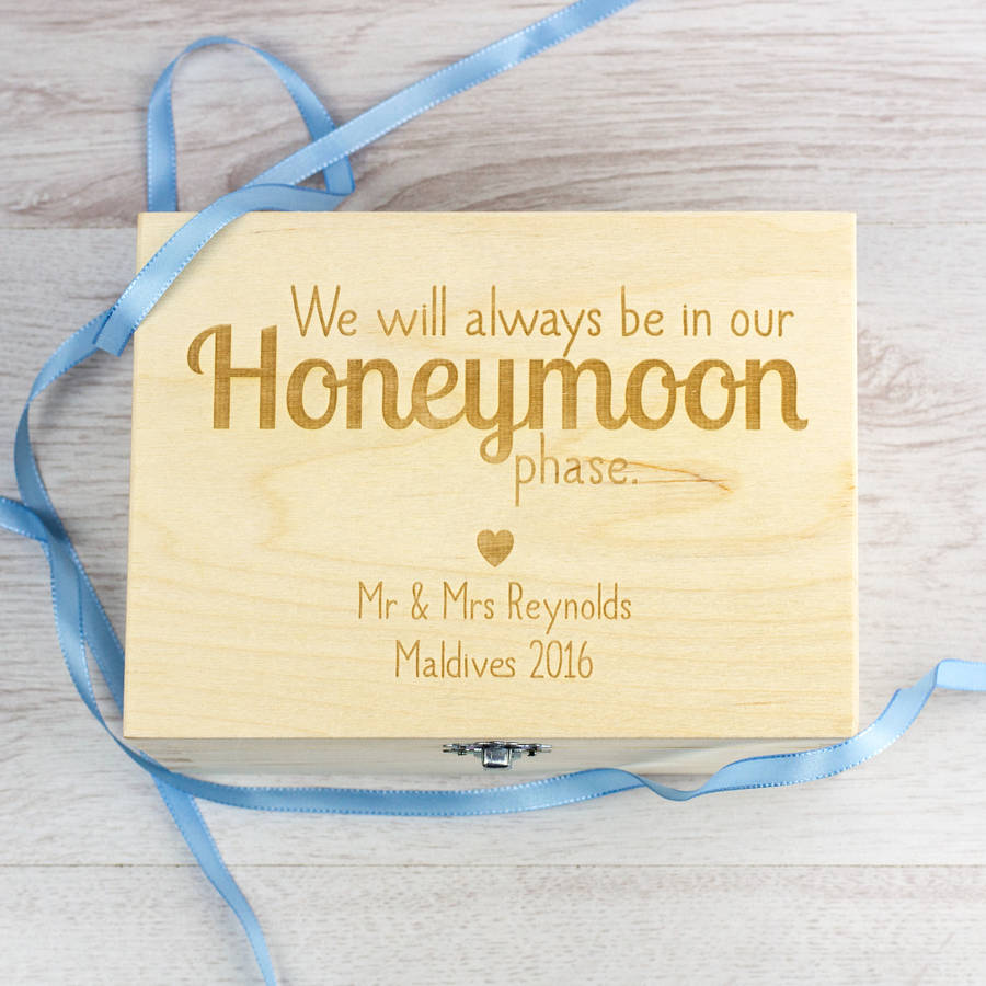 Mirrorin Honeymoon Phase Personalised Keepsake Box