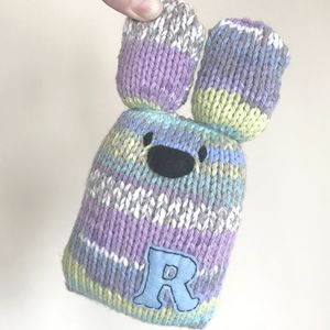 Easter Bunny Knitting Pattern Personalised