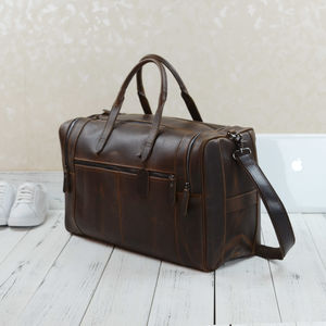 Eazo Vintage Look Leather Weekend Bag